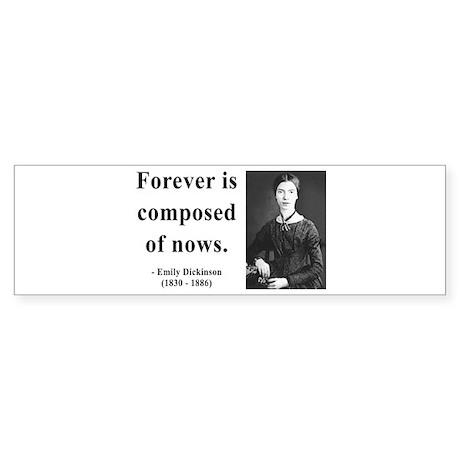 Emily Dickinson 3 Bumper Sticker