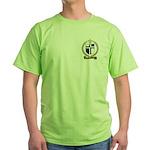 AUCOIN Family Crest Green T-Shirt