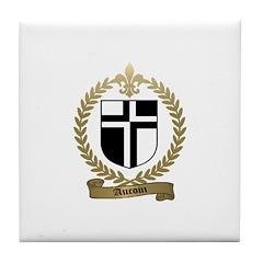 AUCOIN Family Crest Tile Coaster