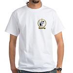 AUCOIN Family Crest White T-Shirt