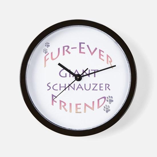 Schnauzer Furever Wall Clock