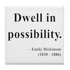 Emily Dickinson 2 Tile Coaster