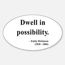 Emily Dickinson 2 Oval Decal
