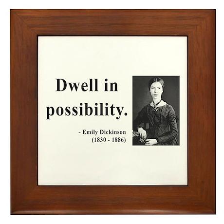 Emily Dickinson 2 Framed Tile