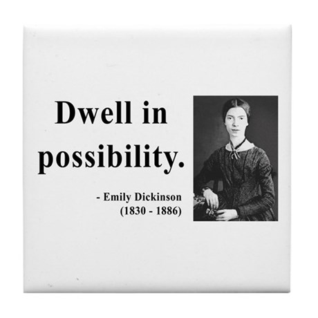 Emily Dickinson 2 Tile Coaster