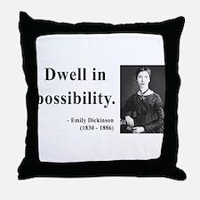 Emily Dickinson 2 Throw Pillow