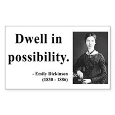 Emily Dickinson 2 Rectangle Stickers