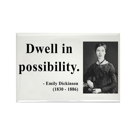 Emily Dickinson 2 Rectangle Magnet (100 pack)