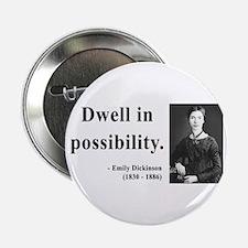 """Emily Dickinson 2 2.25"""" Button"""