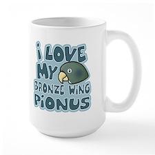 Kawaii Bronze Wing Pionus Ceramic Mugs