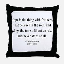 Emily Dickinson 1 Throw Pillow
