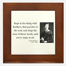 Emily Dickinson 1 Framed Tile