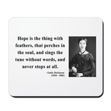 Emily Dickinson 1 Mousepad