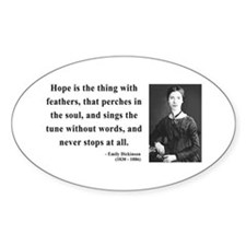Emily Dickinson 1 Oval Decal
