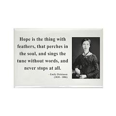 Emily Dickinson 1 Rectangle Magnet (100 pack)