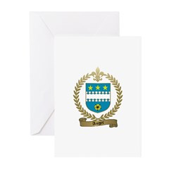 AUGER Family Crest Greeting Cards (Pk of 10)