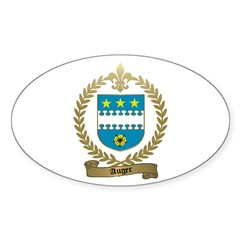 AUGER Family Crest Oval Decal