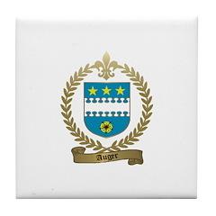 AUGER Family Crest Tile Coaster