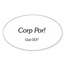 Corp Por! - Oval Decal Oval Decal