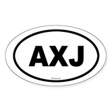 AXJ Oval Decal