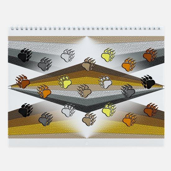 13 BEAR PRIDE DESIGNS W/BEAR PAWS Wall Calendar