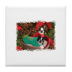 BOSTON LOVE AT XMAS Tile Coaster