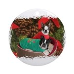 BOSTON LOVE AT XMAS Ornament (Round)
