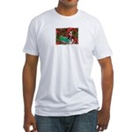 BOSTON LOVE AT XMAS Fitted T-Shirt