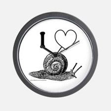 I HEART SNAILS Wall Clock