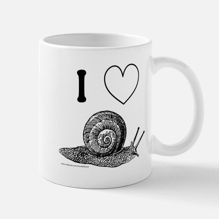 I HEART SNAILS Small Small Mug