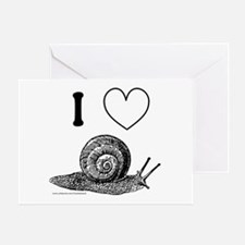 I HEART SNAILS Greeting Card