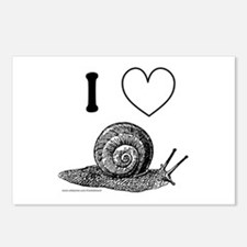 I HEART SNAILS Postcards (Package of 8)