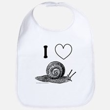 I HEART SNAILS Bib
