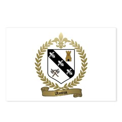 AUTIN Family Crest Postcards (Package of 8)