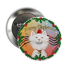 """XMusic2-Cartoon Cat (W) 2.25"""" Button (100 pack)"""