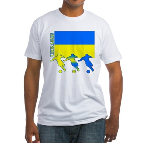 Ukraine Soccer Fitted T-Shirt