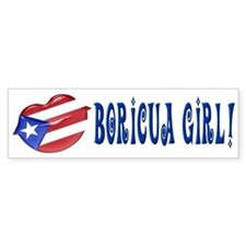 Boricua Girl Bumper Bumper Sticker