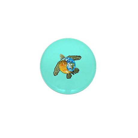 Mini Yin Yang Sea Turtle Button
