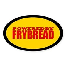 Powered By Frybread Oval Decal