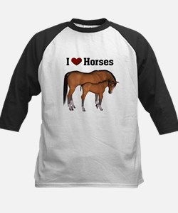 Love My Horse Kids Baseball Jersey