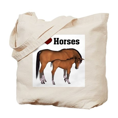 Love My Horse Tote Bag