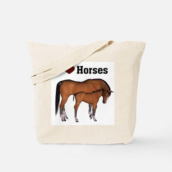 Love My Horse Tote Bag