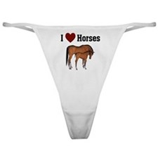 Love My Horse Classic Thong