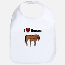 Love My Horse Bib