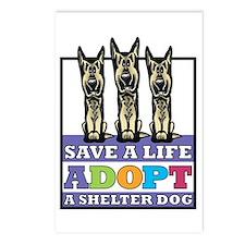 Adopt a German Shepherd Postcards (Package of 8)