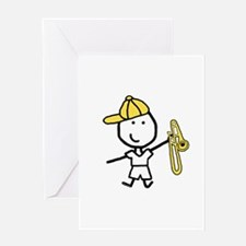 Boy & Trombone Greeting Card