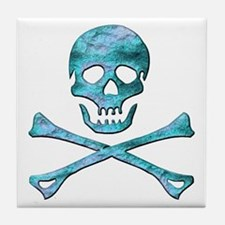 Jolly Roger 3 Tile Coaster
