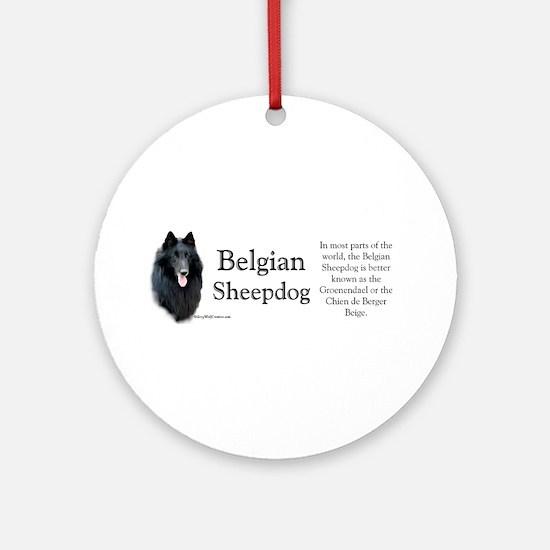Belgian Sheep Profile Ornament (Round)