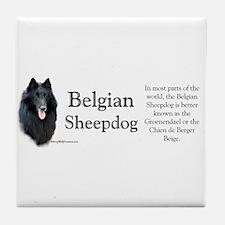 Belgian Sheep Profile Tile Coaster