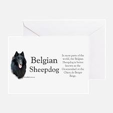 Belgian Sheep Profile Greeting Card
